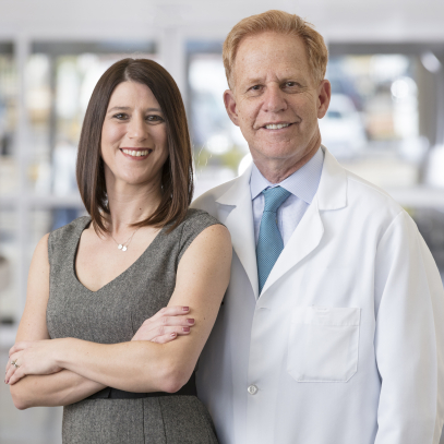 Alicia Bigelow and Sam Butman, M.D.